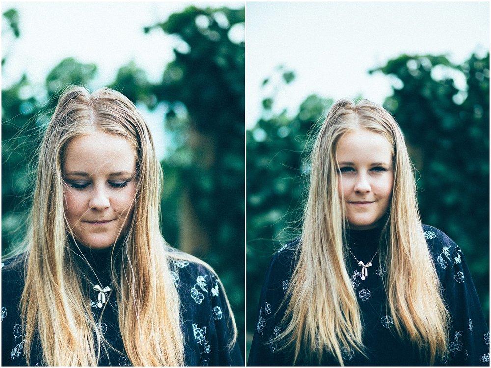 Allan Scott Winery Portrait Girl amongst Vines Photo