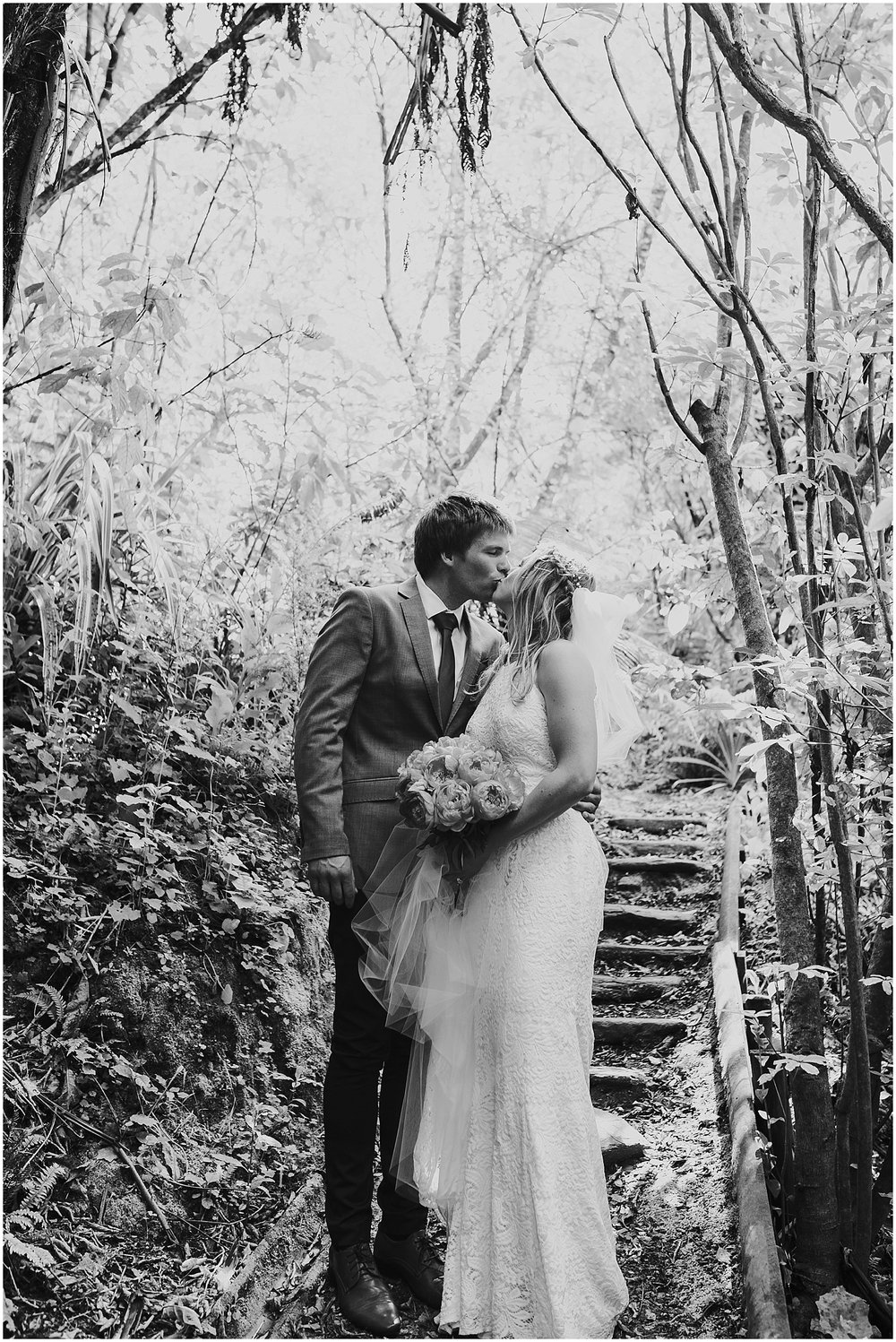 Bride + Groom Portrait in Bush| Carmen Peter Photography