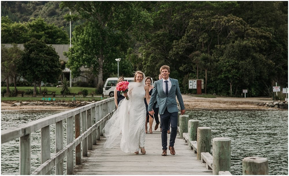 Hannah + Scott walking on jetty | Carmen Peter Photography.jpg