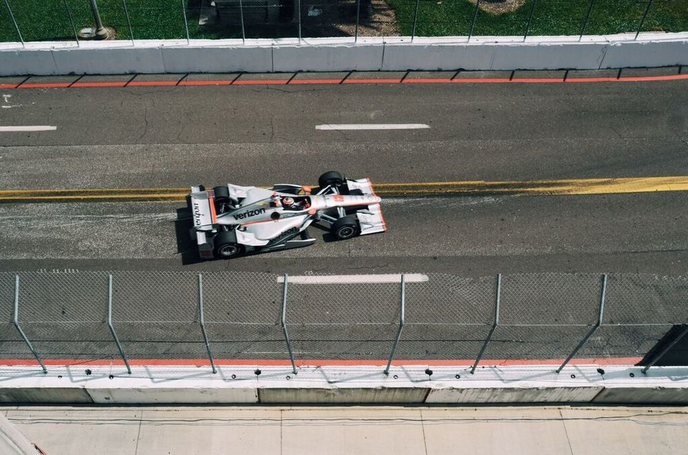 My view from atop Al Lang Stadium - Will Power #12