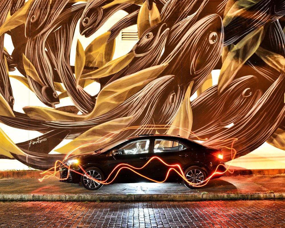 Light painting / Mural by Pantónio