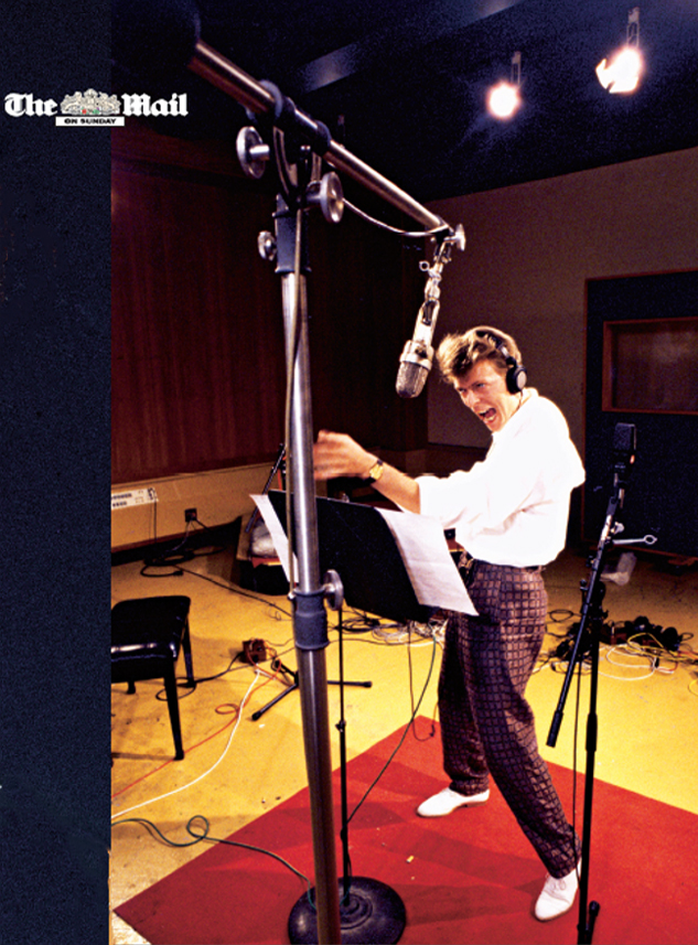 In London, the Mail on Sunday licensed this photo of Bowie recording the Labyrinth Soundtrack in 1985.