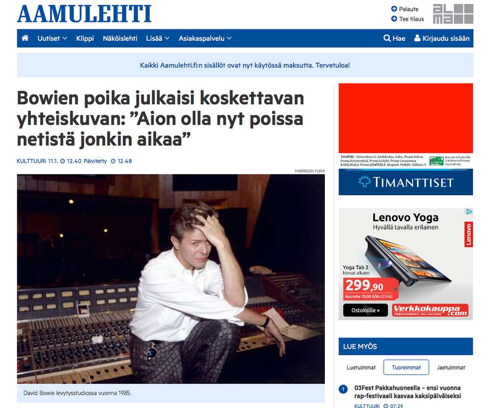 AAMULEHTI • Finland • January 11, 2016