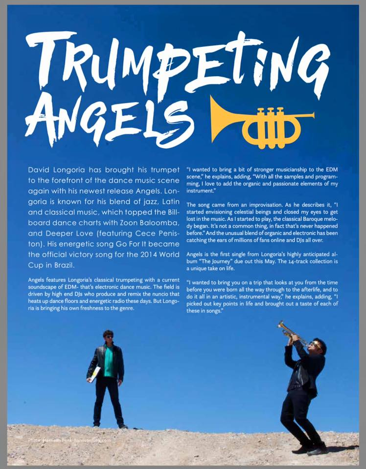MALIBU MAGAZINE feature-story about Grammy winning trumpet virtuoso David Longoria and Grammy winning producer/DJ Robert Eibach