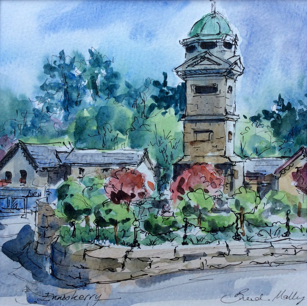 Enniskerry Clock Tower by  Brenda Malley