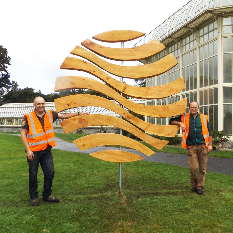 World Waves by  Con Gent  &  Paul Flynn . Winner of the New Ireland   Assurance Sculpture Award