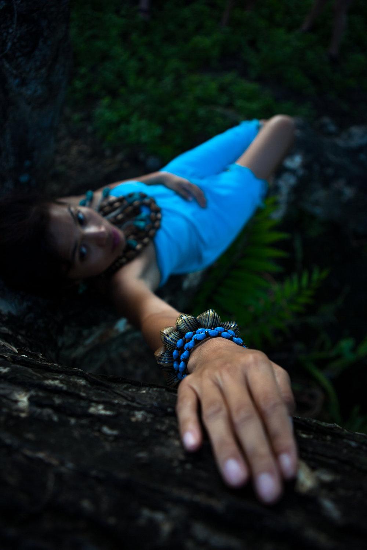 Upcycled handmade turquoise bracelets Philippines
