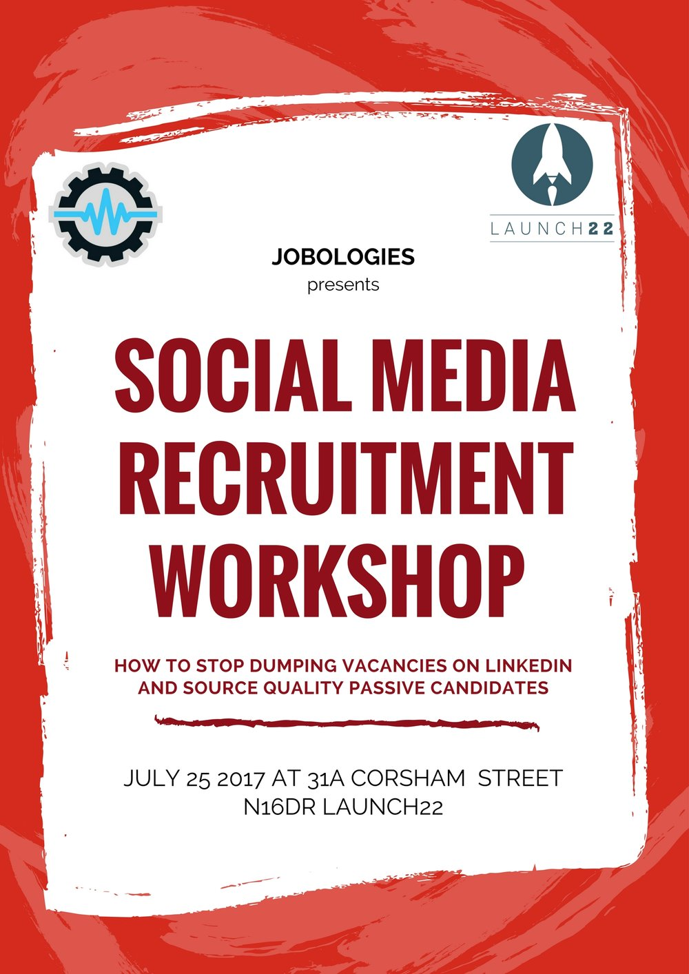 Social Media Recruitment Workshop - Did you know?Most recruiters fail to develop a valuable, brand building, candidate generating social media presence. Instead they dump vacancies on LinkedIn and do not see any outcomes.CLICK HERE TO JOIN THE FREE WORKSHOP!