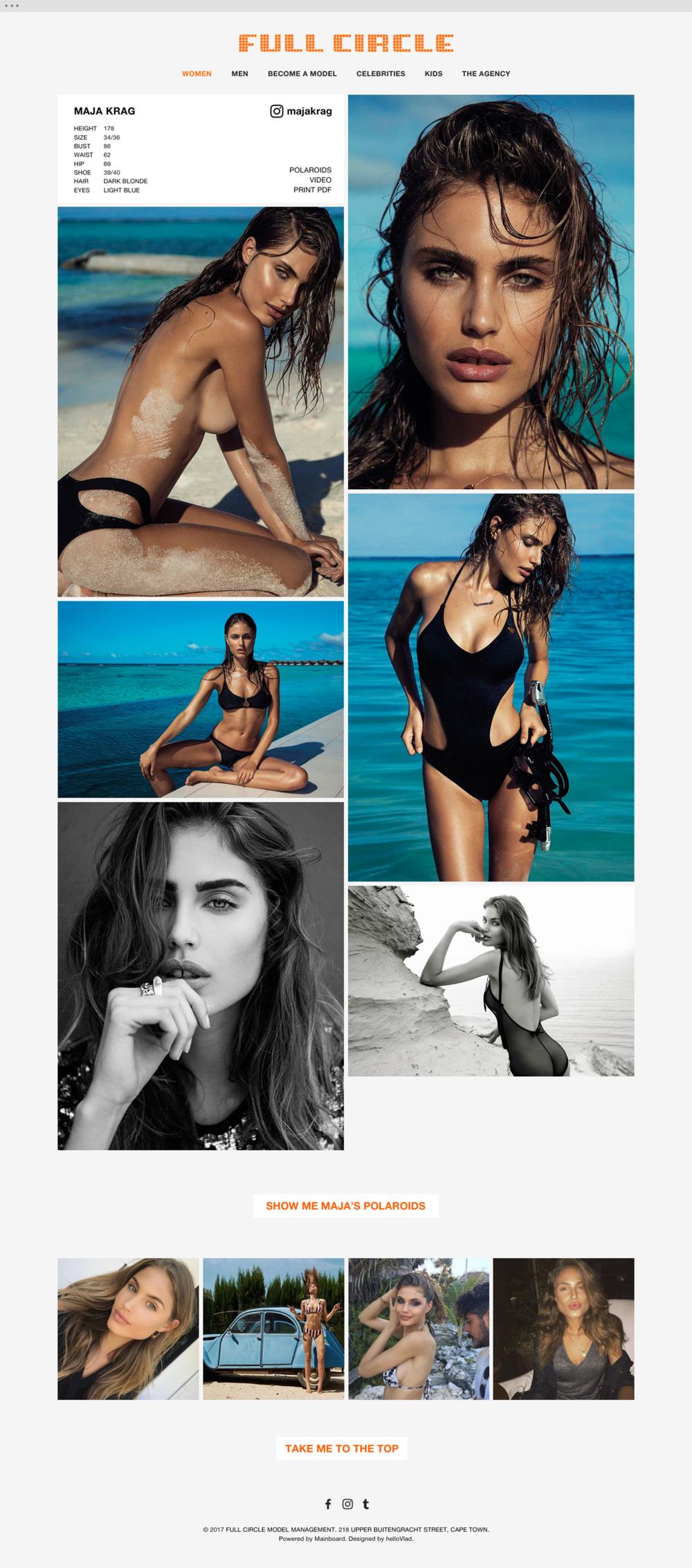 Full Circle Models website 3 - helloVlad.studio