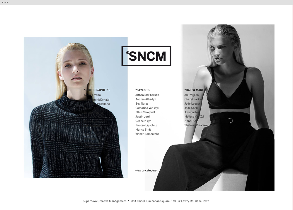 Supernova Creative Management website 4 - helloVlad.studio