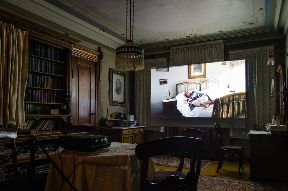 Escapism, Video Installation in Karoline´s Room, View 2