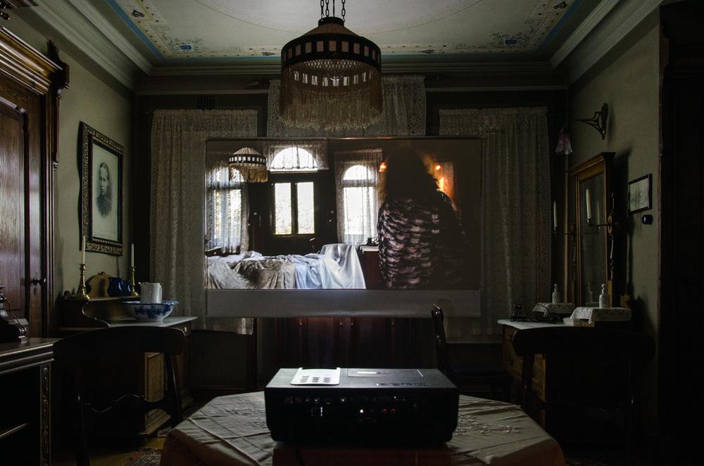 Escapism, Video Installation in Karoline´s Room, view 1