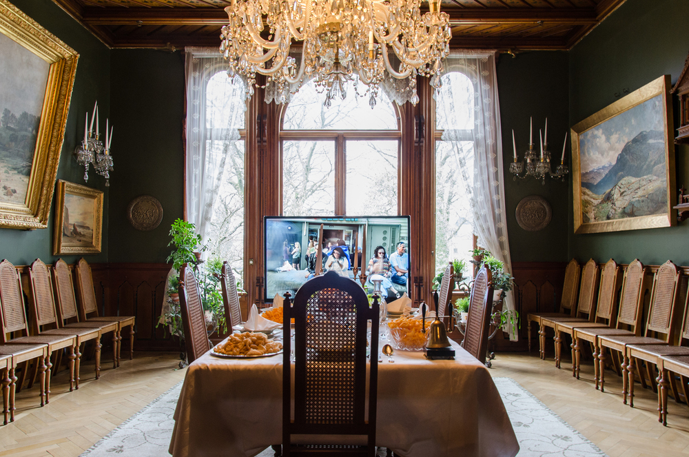 Gladmatfestivalen, Video Installation in the Dining Room, View 1