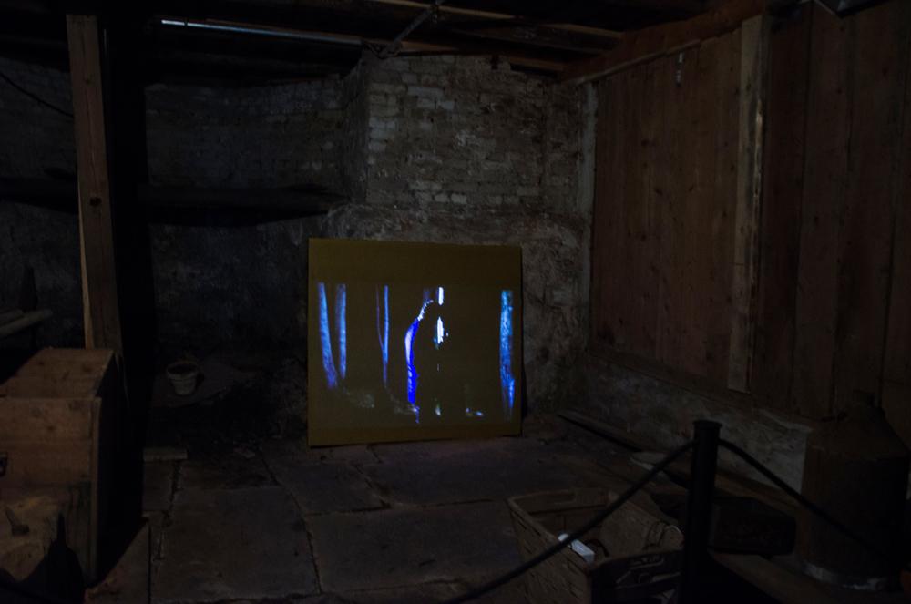 Illusion, Video Installation in the Coal Cellar, view 1