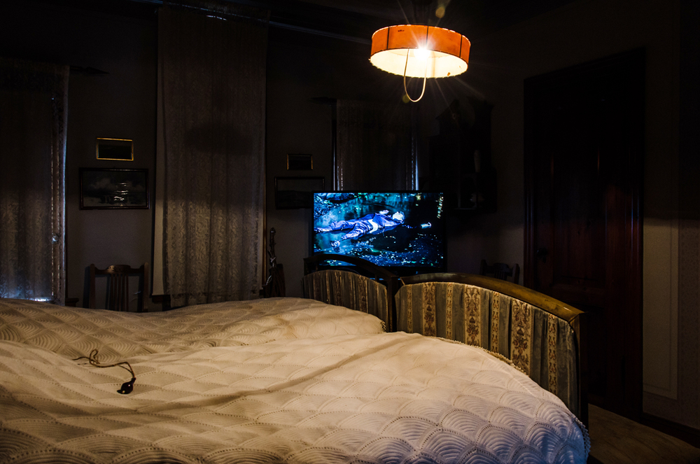 Untitled video Installation in Erik´s Room, View 2