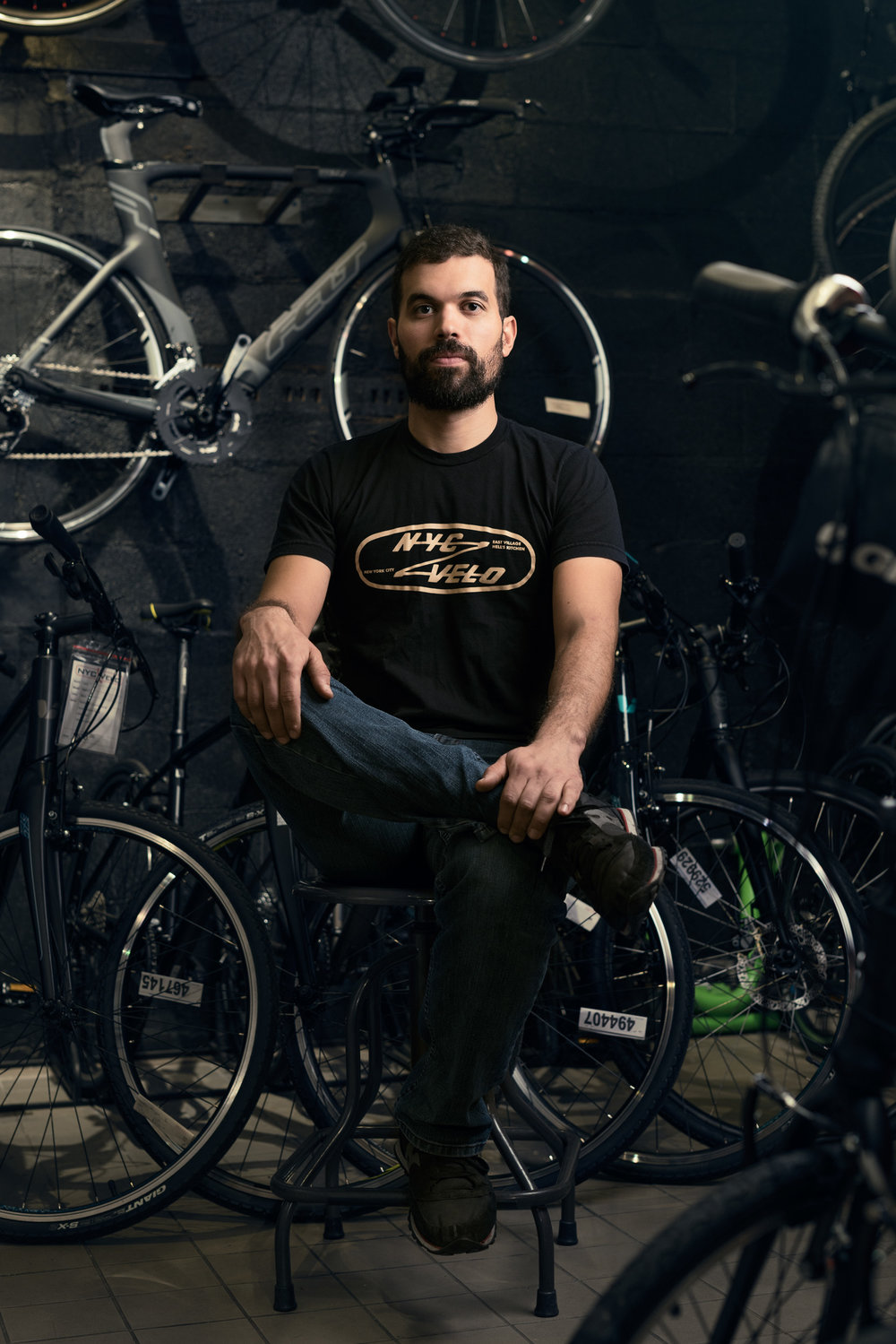 Bicycle Mechanist at NYC Velo
