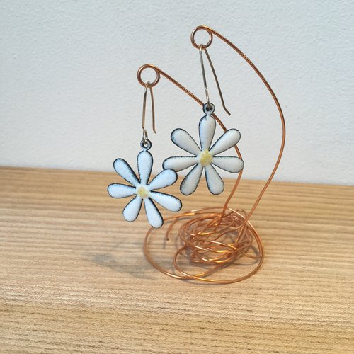 beaded earrings handmade flower fringe soul hippie