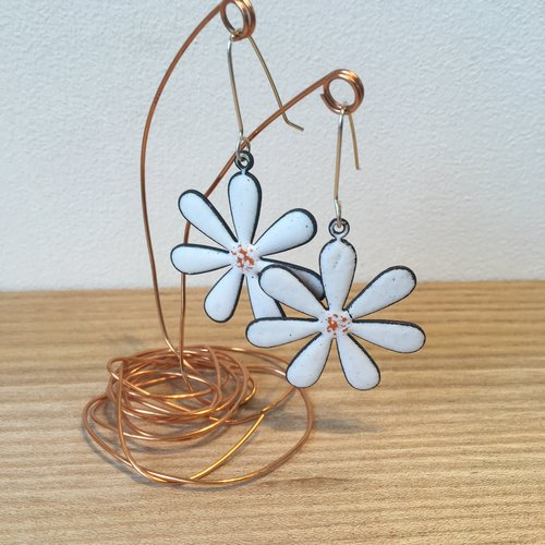 ivory daisy s retro product earrings carved vintage hand
