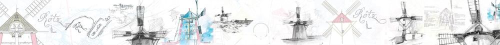 Skizzen Windmühle Retz