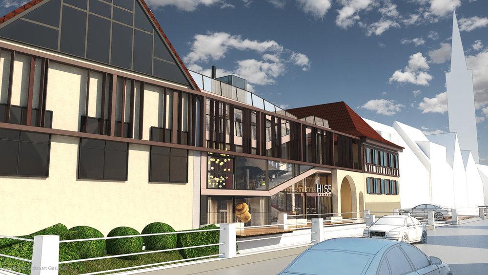 Das neue Weinhaus in Eichstetten. Visualisierungen, made by Spitzbart.