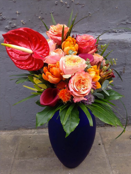wild colourful vase flowers florist