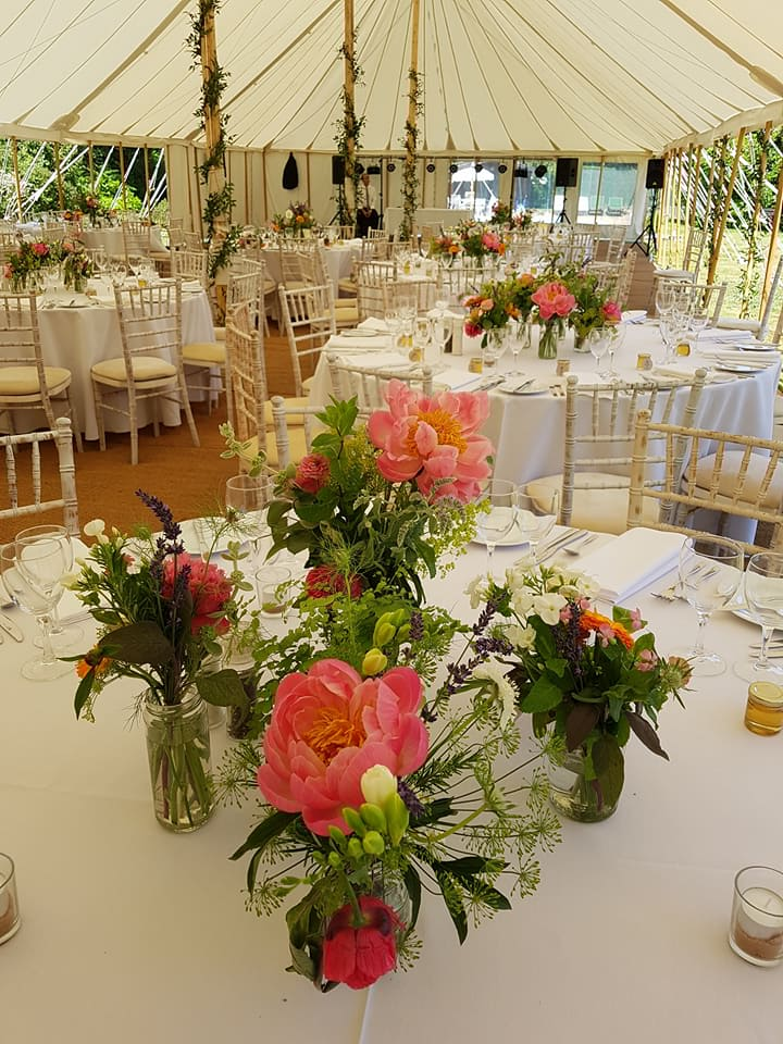 peonies marquee wedding summer june flowers