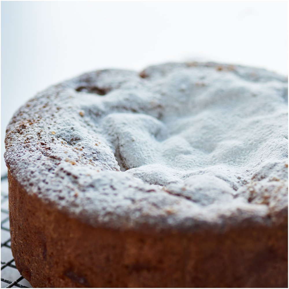 Apple cake made with seasonal russet apples
