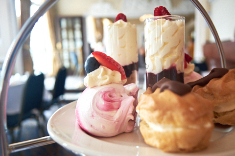 The top tier of an afternoon tea is always the best