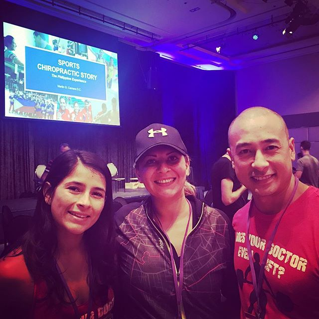 Day 2 finished with my chiro power couple @fabiolaresurreccion @bresurreccion at Sports Chiropractic 2018 Symposium. What a wonderful seminar spend with top sports chiropractors from around the globe. Adding experience and knowledge to our field and encouraging us to grow and sculpt into only excellence👏🏻💪👌Thank you💓🙏#scasymp18,#sportschiropractic,#greattimes