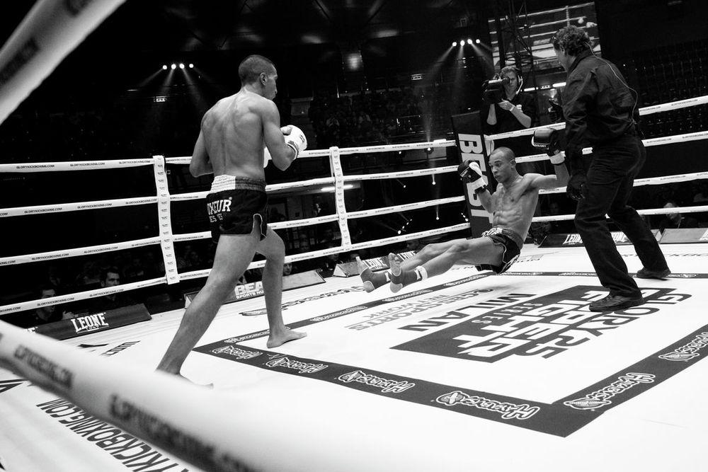Falling Kickboxer