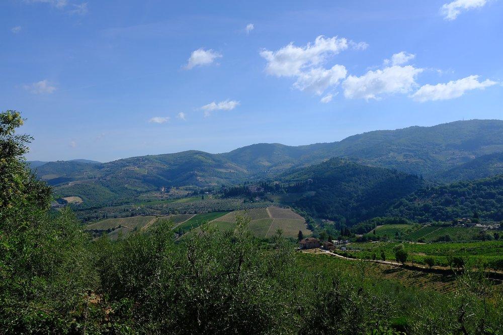 De prachtige omgeving van Toscane.