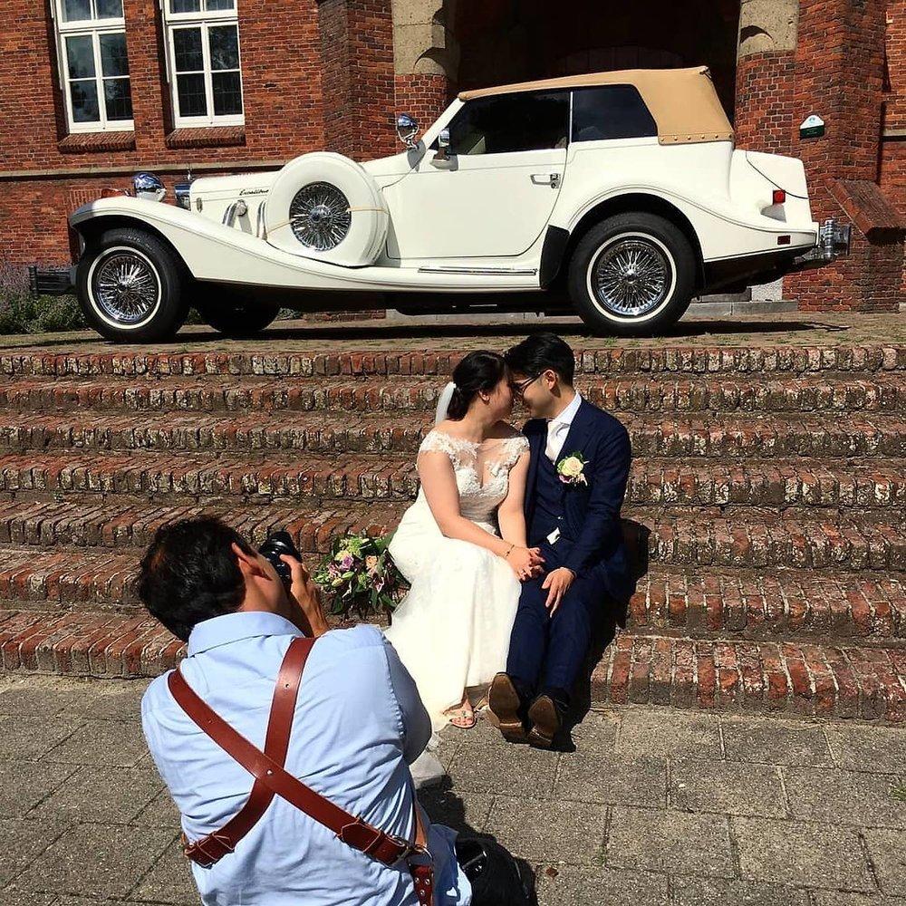 bruidsfotograaf Stefan Segers aan het werk