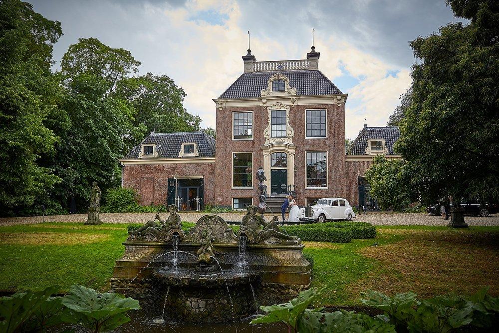 trouwshoot bruidsfotografie bij trouwlocatie Frankendael in Amsterdam