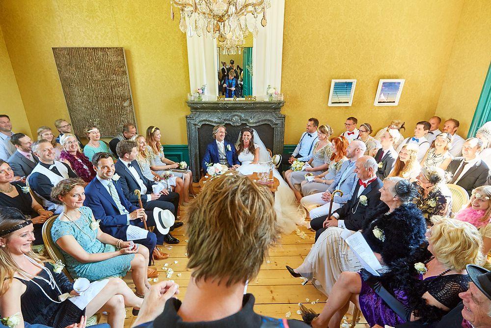 Bruidsfotograaf in Amsterdam tijdens de ceremonie