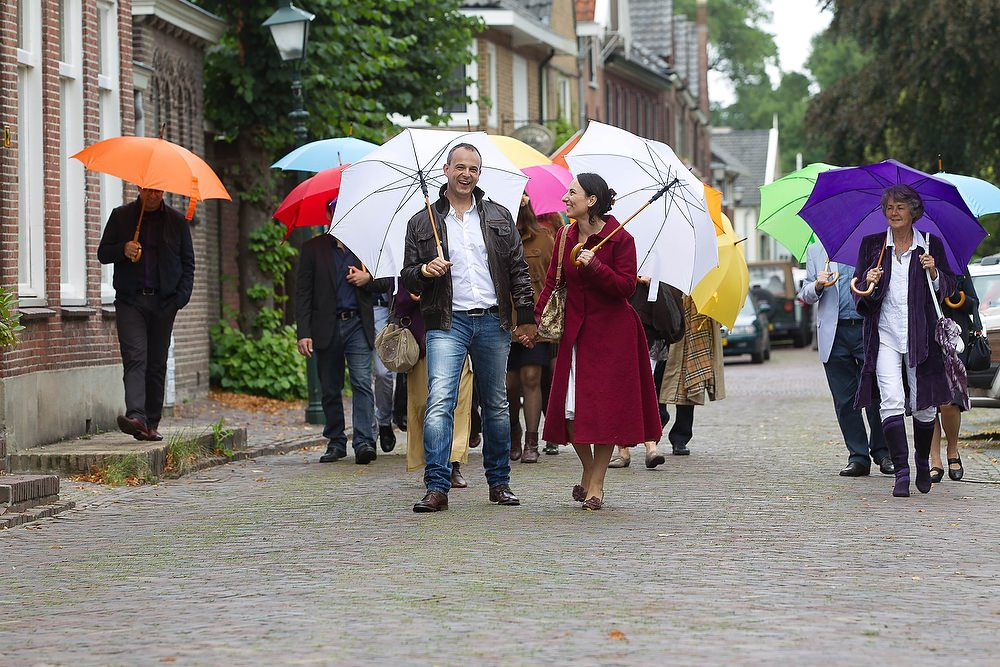 trouwshoot bruidsfotografie met paraplu