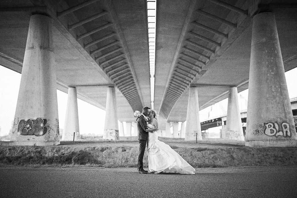 bruidsfotografie onder de snelweg A2