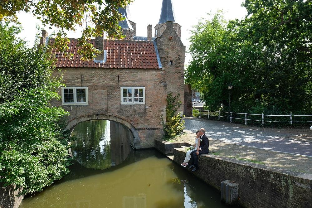 trouwreportage bij Oostpoort Delft