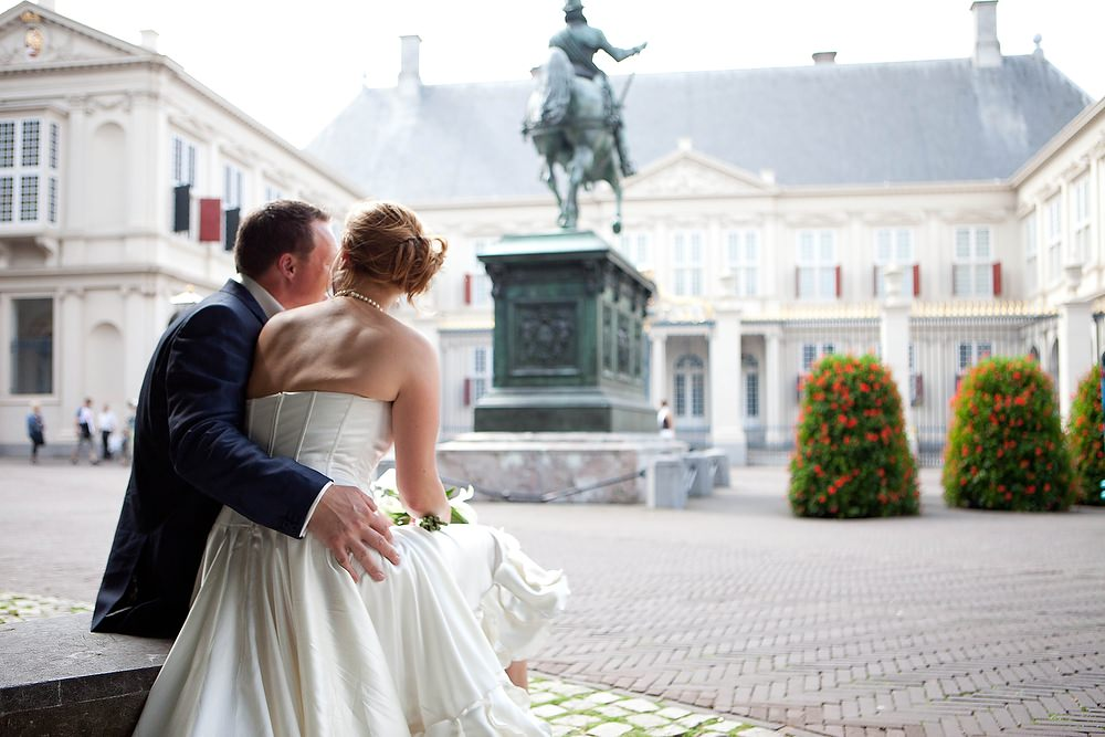 bruidsfotografie bij Paleis Noord Einde in Den Haag