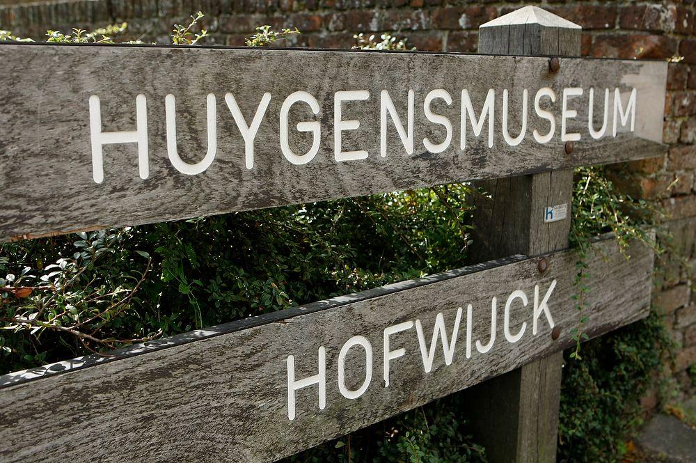 bord Huygens Hofwijck - Voorburg