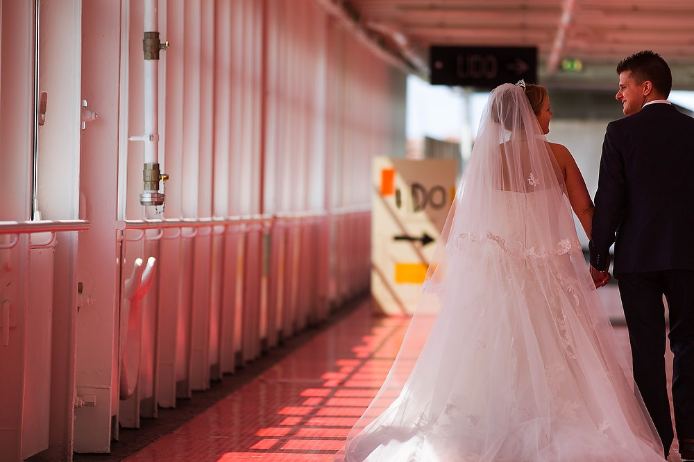 trouwshoot trouwreportage in de SS Rotterdam 1