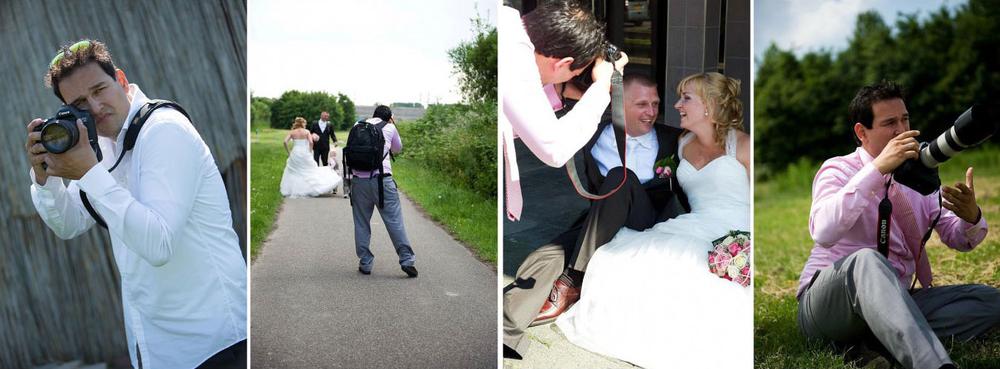 bruidsfotograaf Stefan Segers aan het werk tijdens trouwreportages