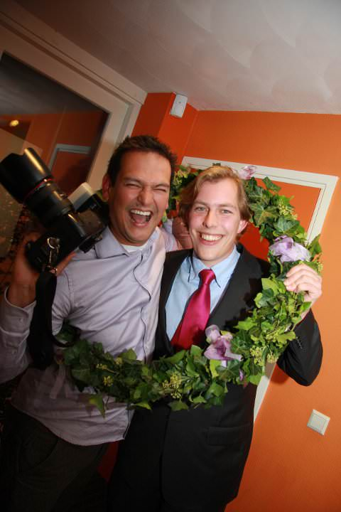 bruidsfotograaf Stefan Segers met ceremoniemeester