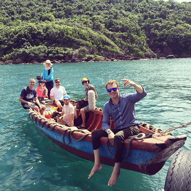 Let's get the whole crew on the boat! Amazing location to shoot in. • • • • #Production #filmmaking #vietnam #asia #documentary #videoproduction #setlife #shoot