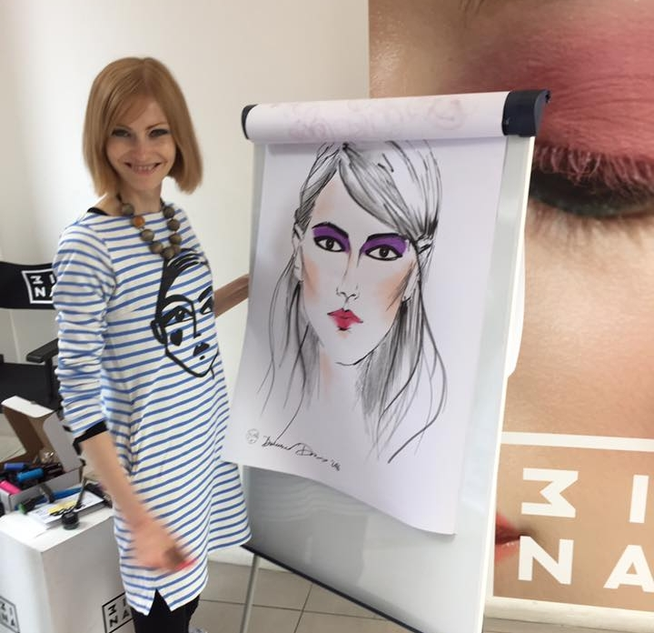 Me! Running an in-store colouring sesh for make-up brand 3INA.