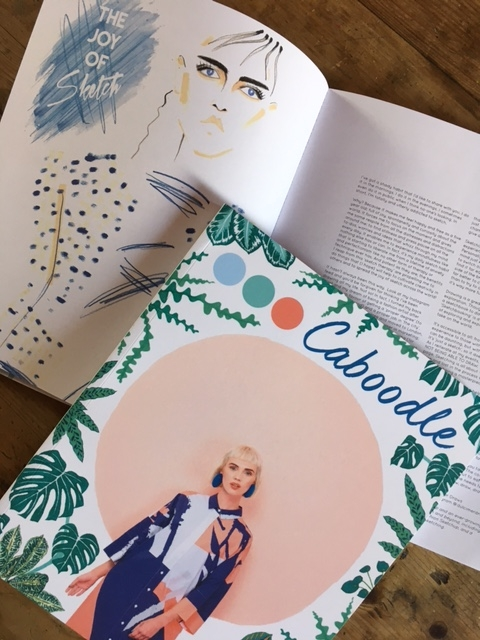 My illustration and article, The Joy of Sketch: as featured in the latest edition of Caboodle.