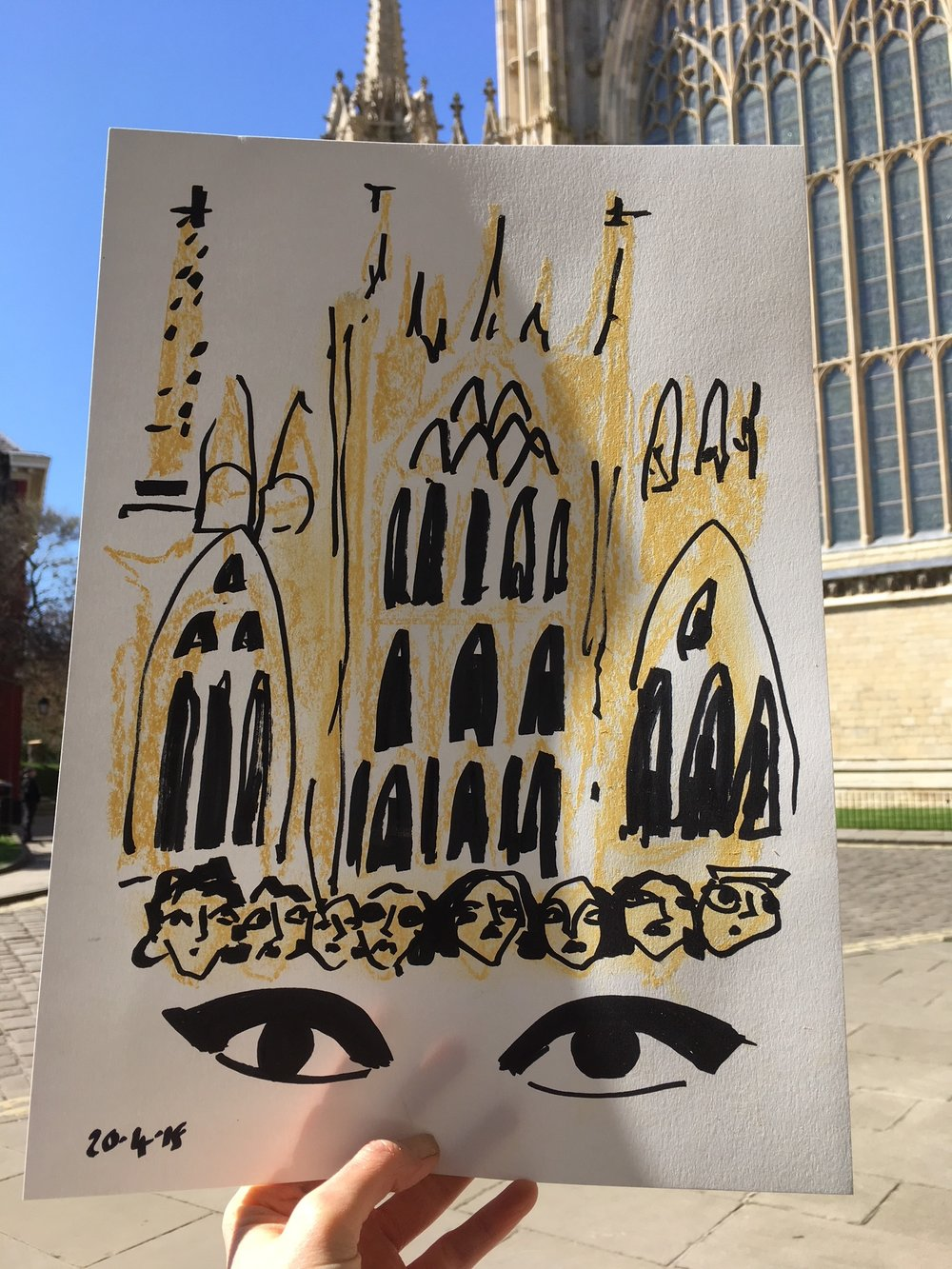 My 5 minute power sketch outside York Minster
