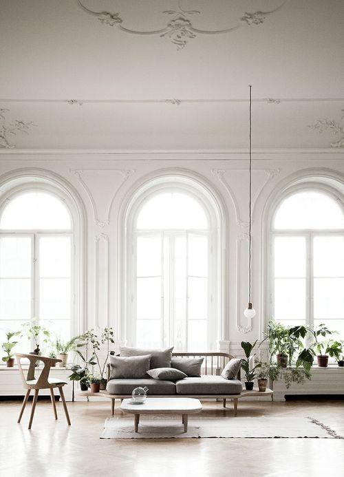 Vergelijkbare ruimte (hoog, wit, hout, groen)