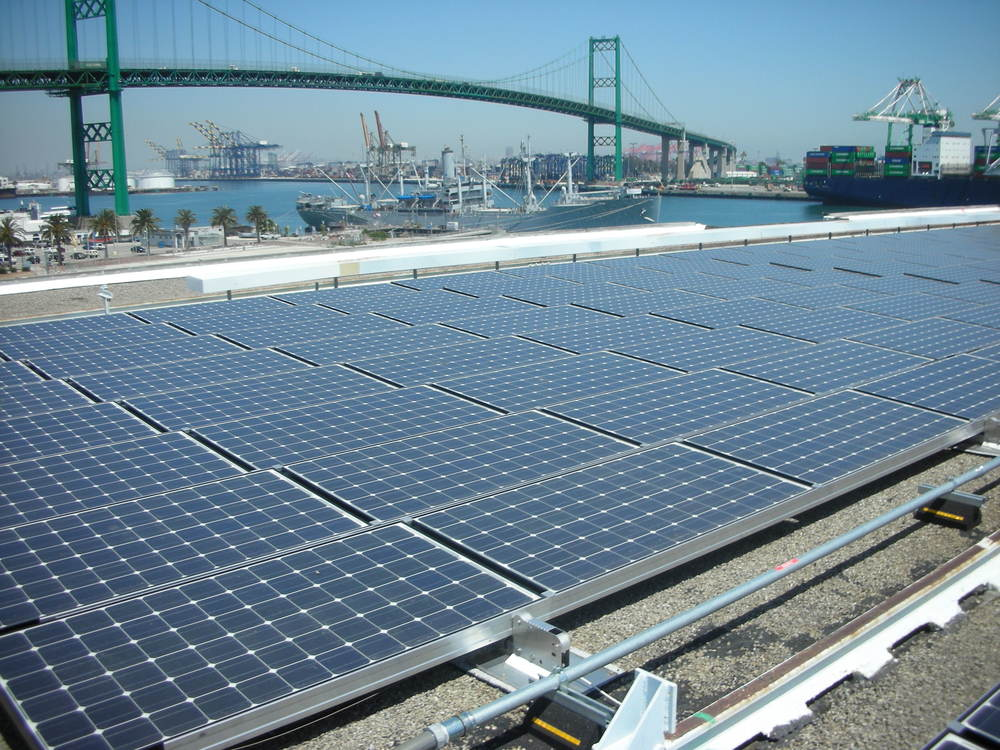 Port Of Los Angeles, International Cruise Terminal Solar Power System, Largest of Its Kind in the World