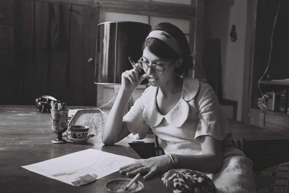 Emmanuelle Khanh à Paris en 1963.DALMAS/SIPA