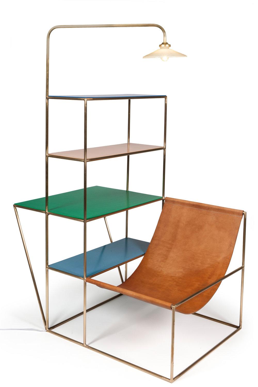 Muller Van Severen, «Installation », 2012 Cuir laiton propylène © Musée des Arts décoratifs, Paris, Jean Tholance